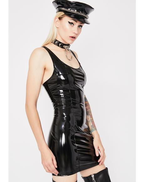 Dark Acid Mayhem Vinyl Dress