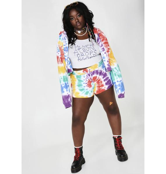 Current Mood Hippie Trippy Delight Crop Hoodie
