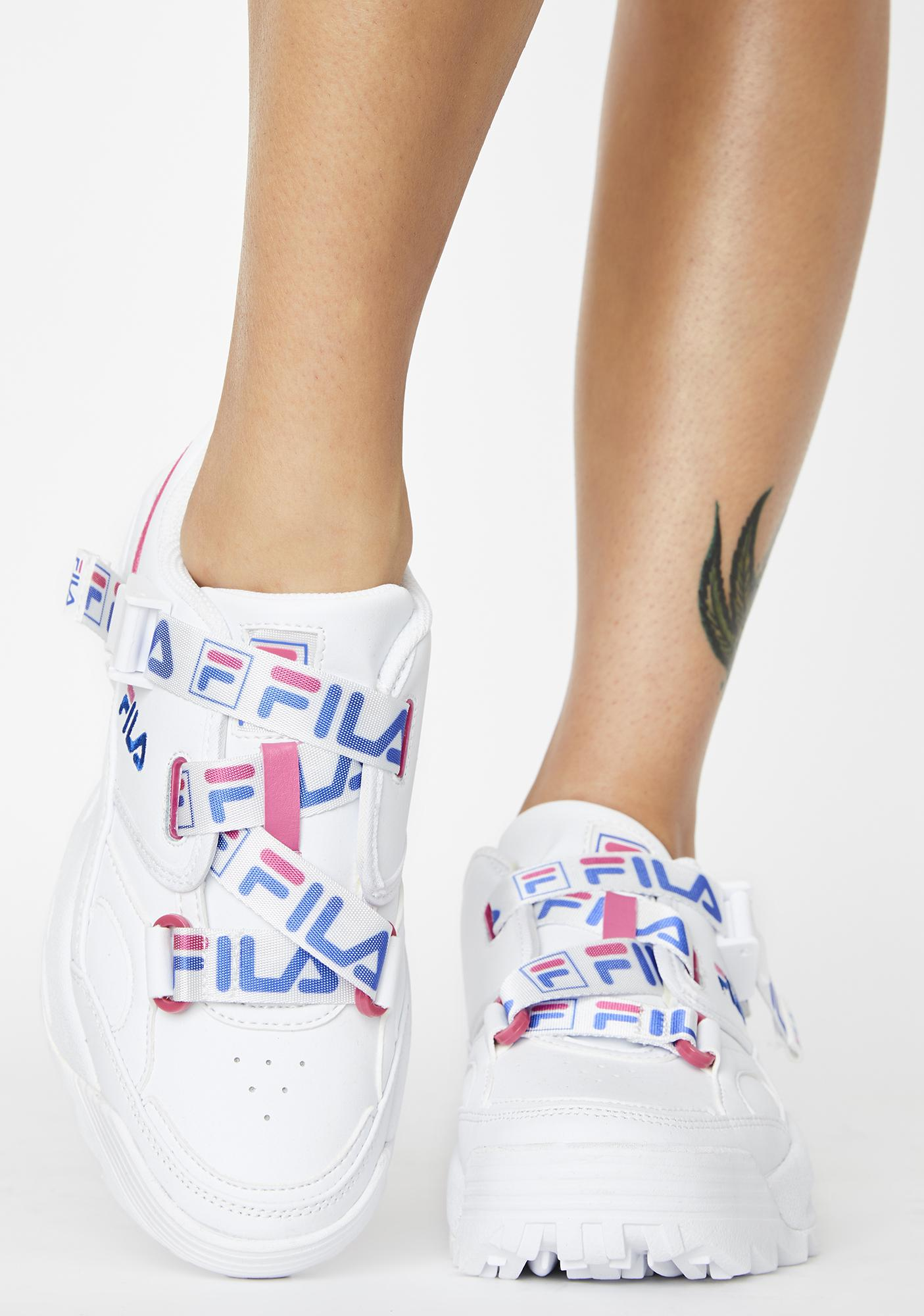 Fila White Fast Charge Sneakers