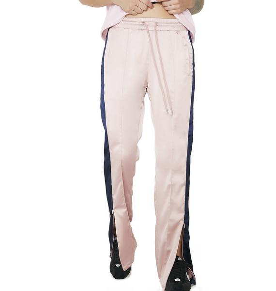 Baddies Only Satiny Track Pants