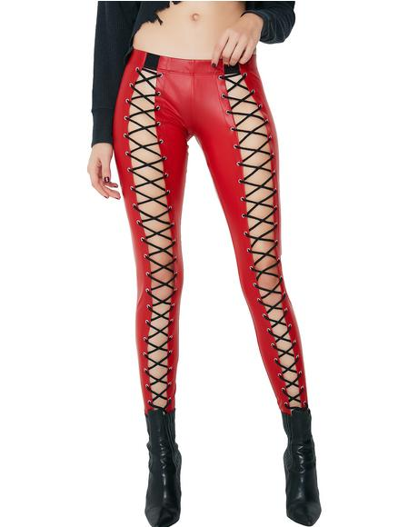 Cherry Nancy Low Corset Leggings