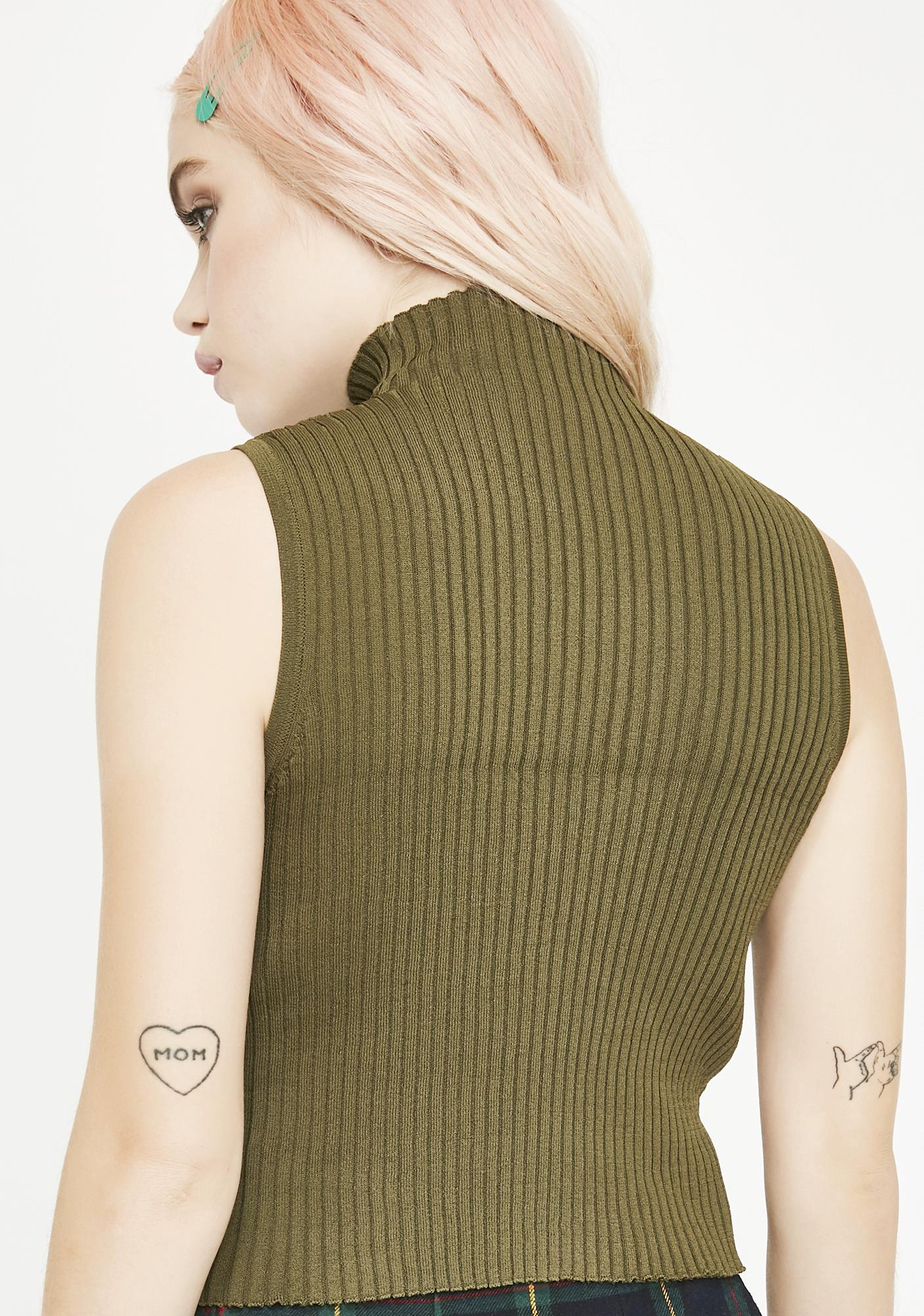 Dank Sovereign Sass Turtleneck Top