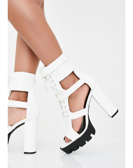 Quartz Hunty Status Lace Up Heels