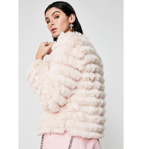 Pour The Bubbly Fluffy Cardigan