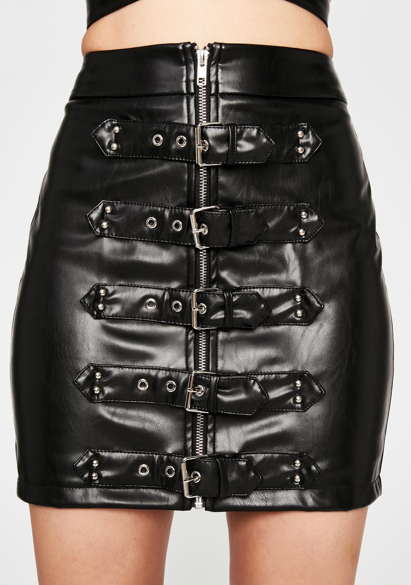 Obey My Command Buckle Skirt