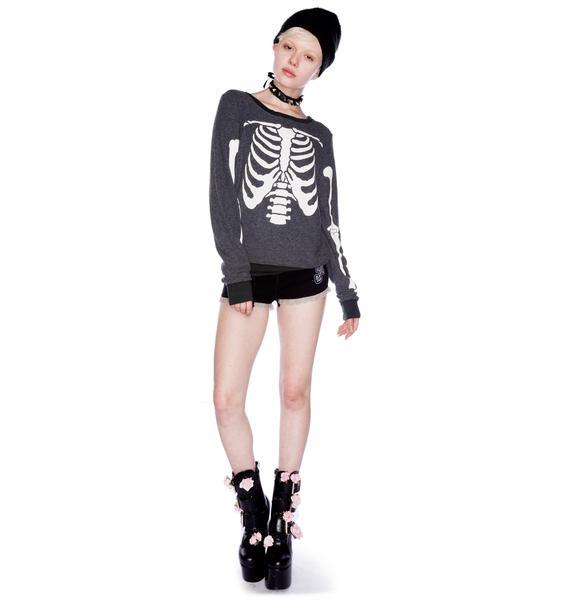 Too Fast Sugar Skull Shorts