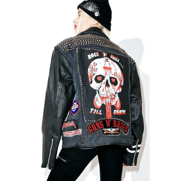 Hazmat Design Vintage Deadstock Denim 'N Leather Jacket