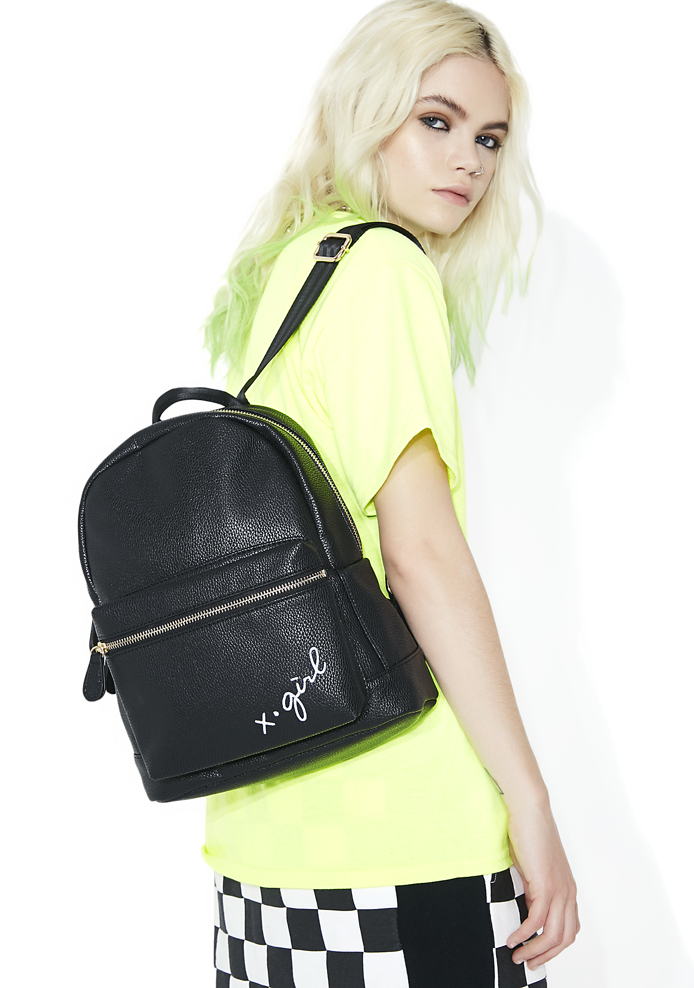 x-Girl Logo Embroidered Mini Backpack