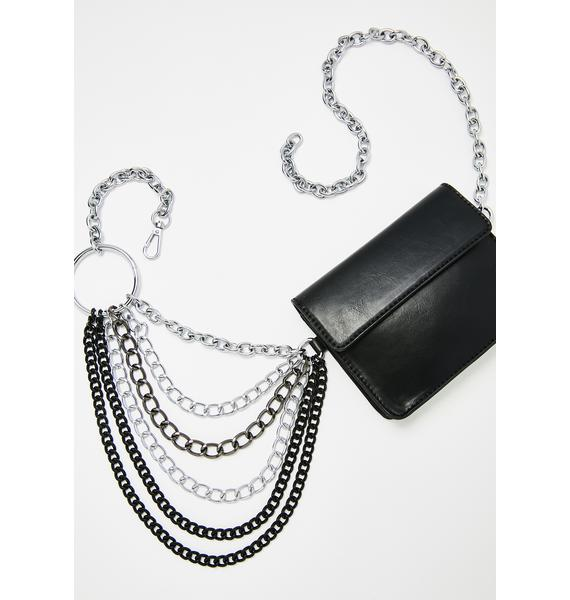 Poster Grl Iced Out Chain Fanny Pack