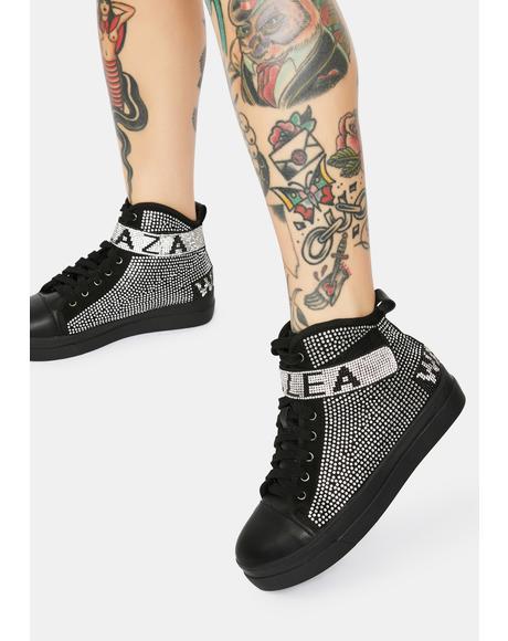 Azalea Wang Rhinestone Sneakers