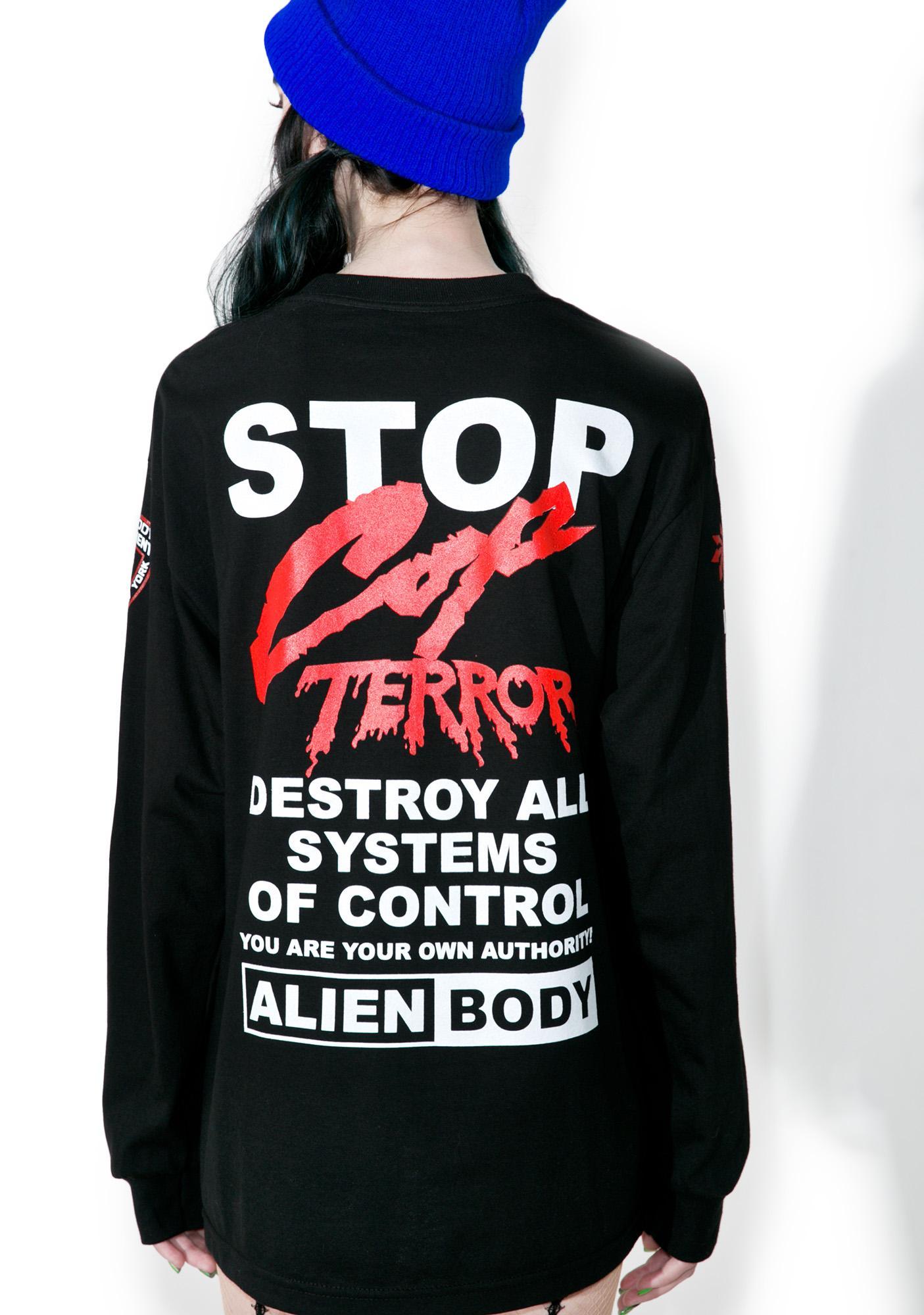 Cop Terror Long Sleeve Tee