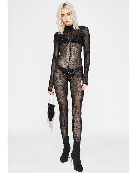 Glam Like Glitter Sheer Catsuit