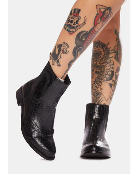 Gator Gala Ankle Boots