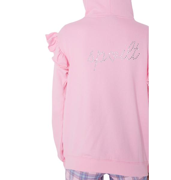 Lazy Oaf Spoilt Pink Hoodie