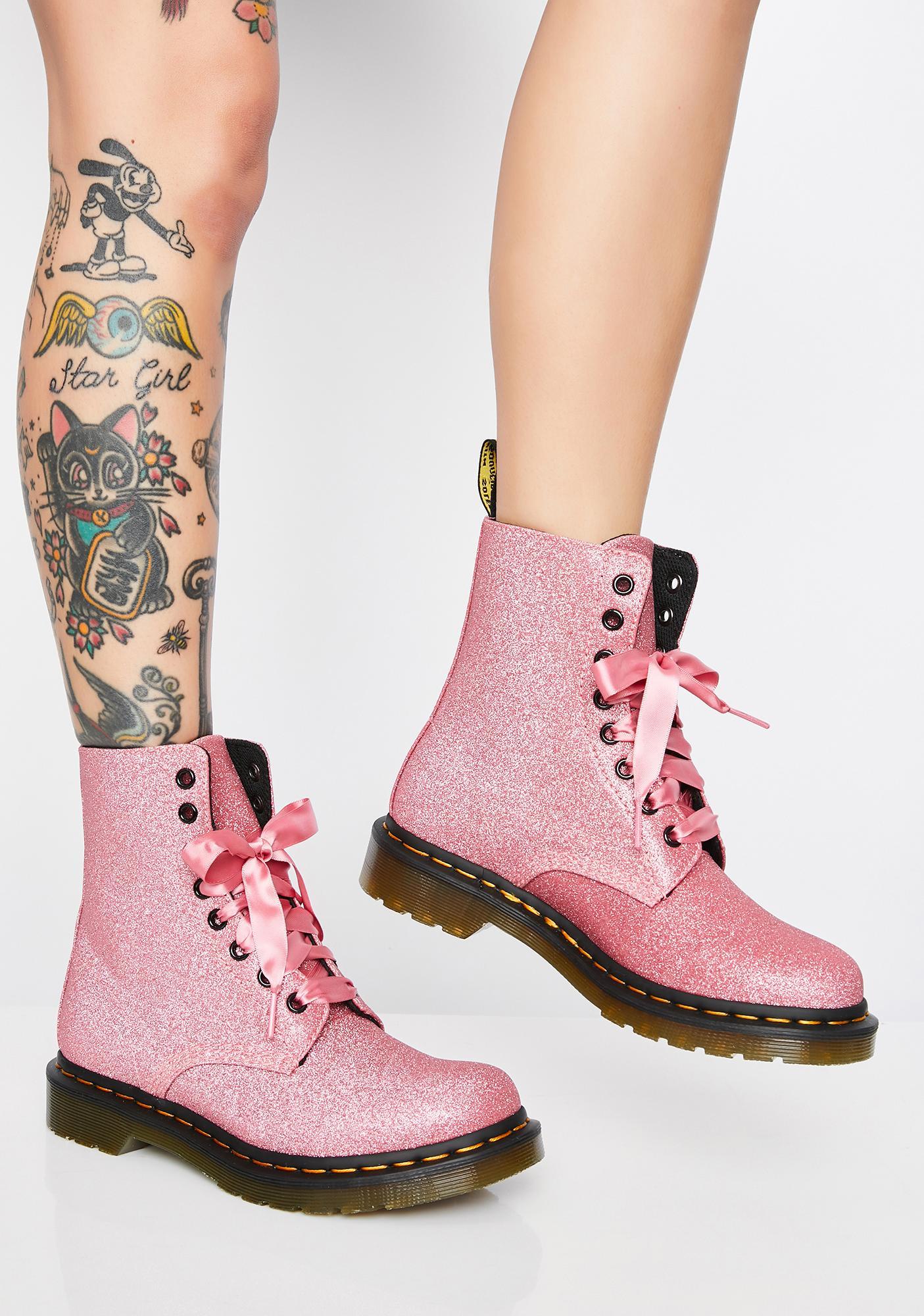 Dr. Martens 1460 Pascal Pink Glitter Boots