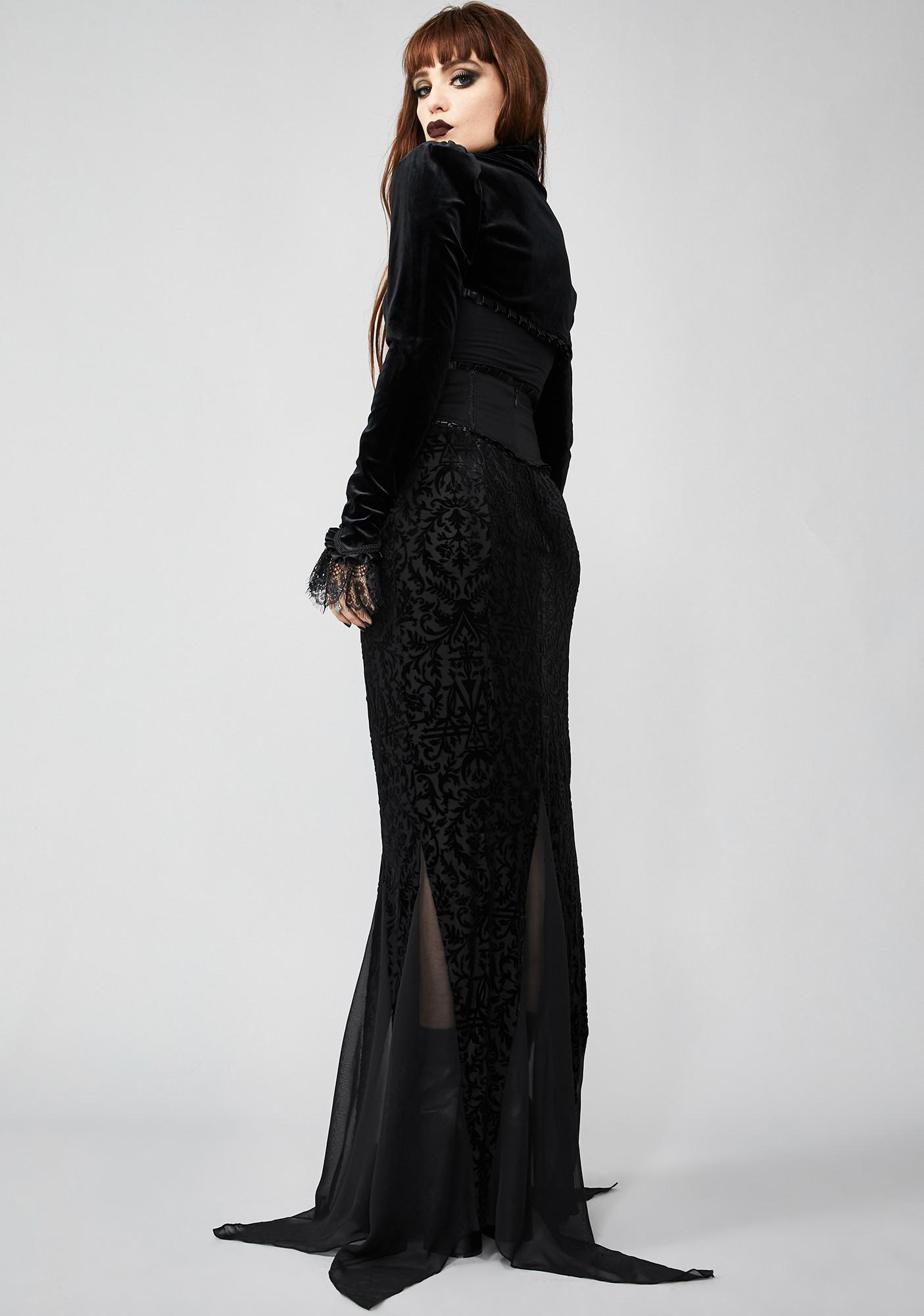 Widow Haunted Wonderland Maxi Skirt