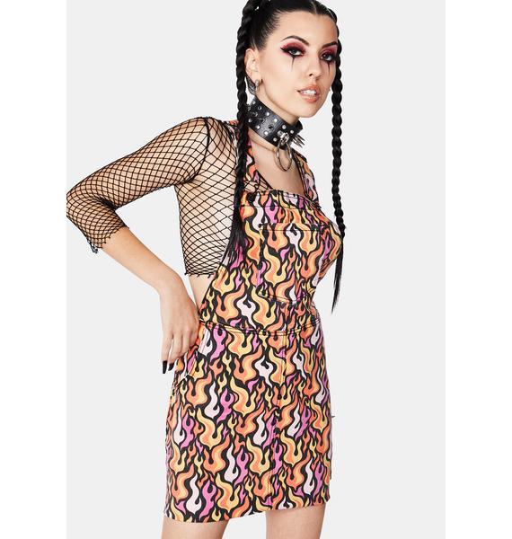 Black Friday Fireproof Pinafore Dress
