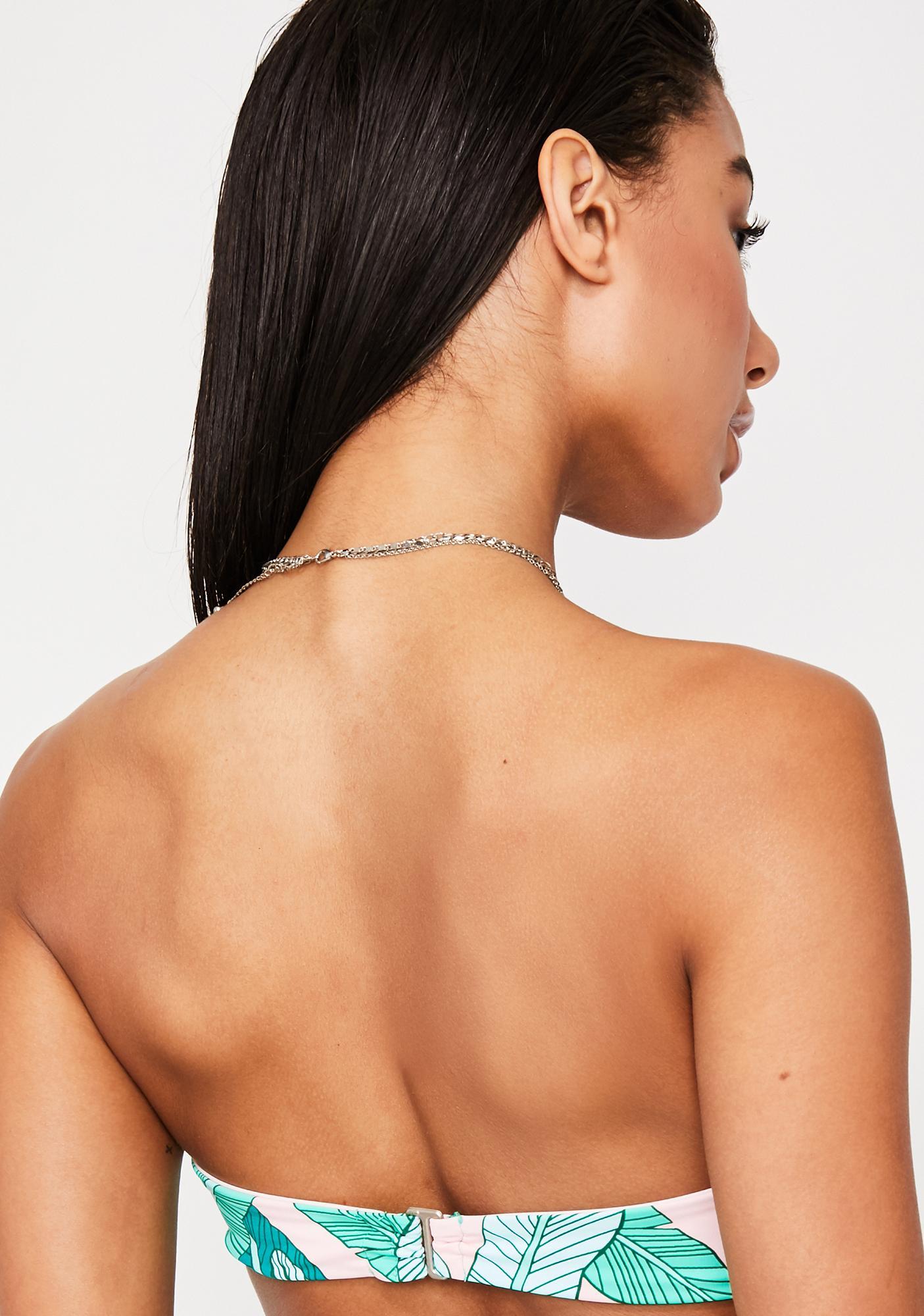 Dippin' Daisy's Icon Palm Bandeau Bikini Top