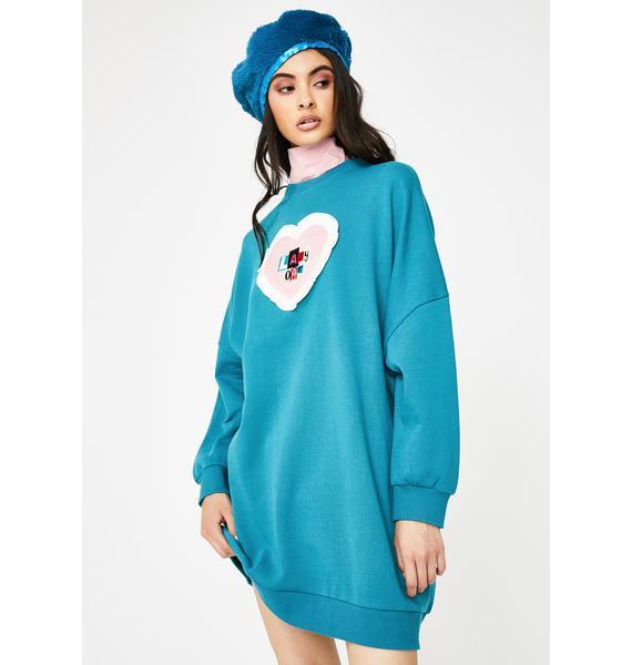 Lazy Oaf Letter Patch Sweater Dress