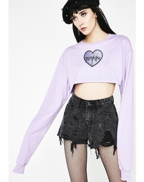Violet Crop Sweater