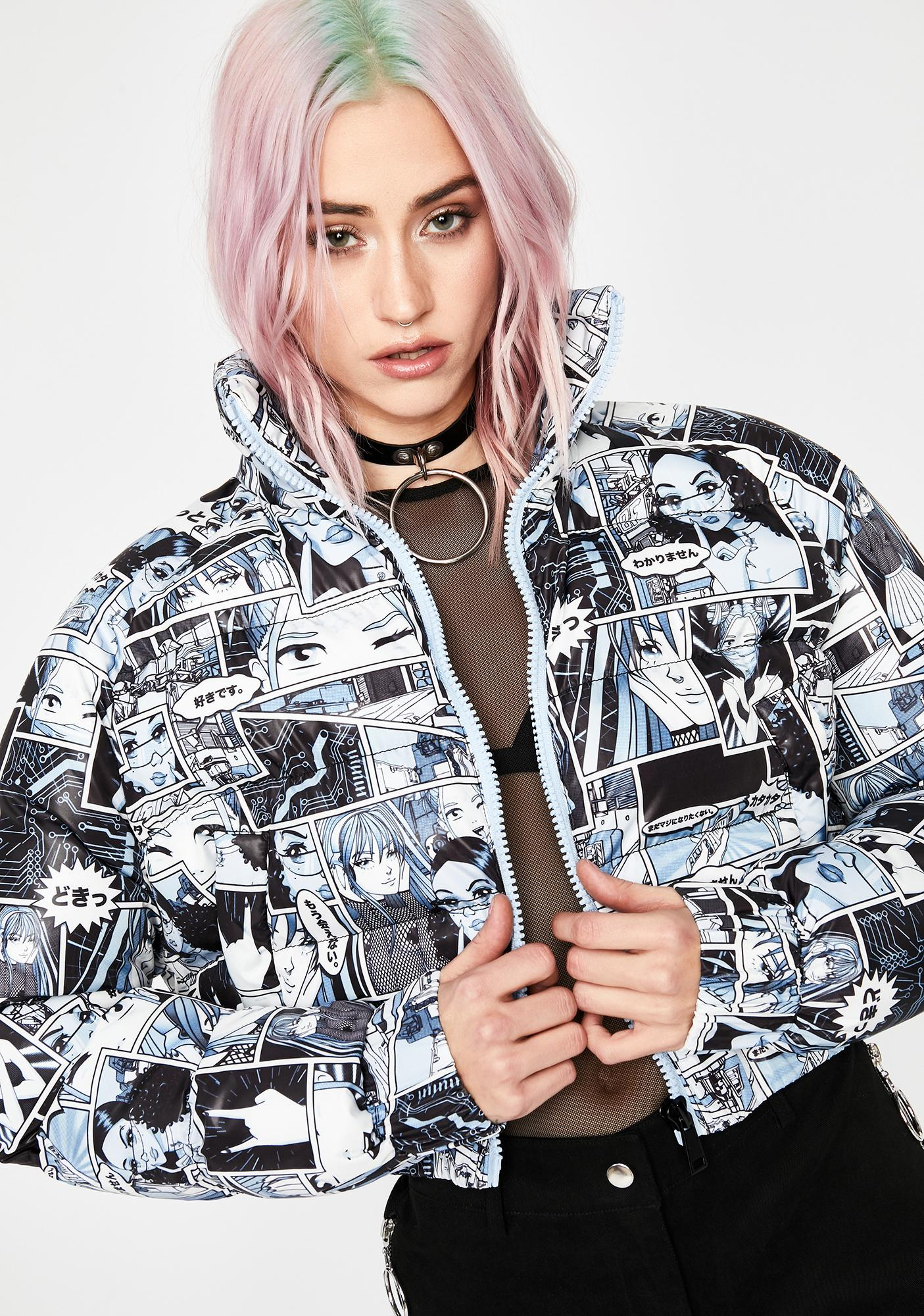 Current Mood Misfit Memoirs Puffer Jacket