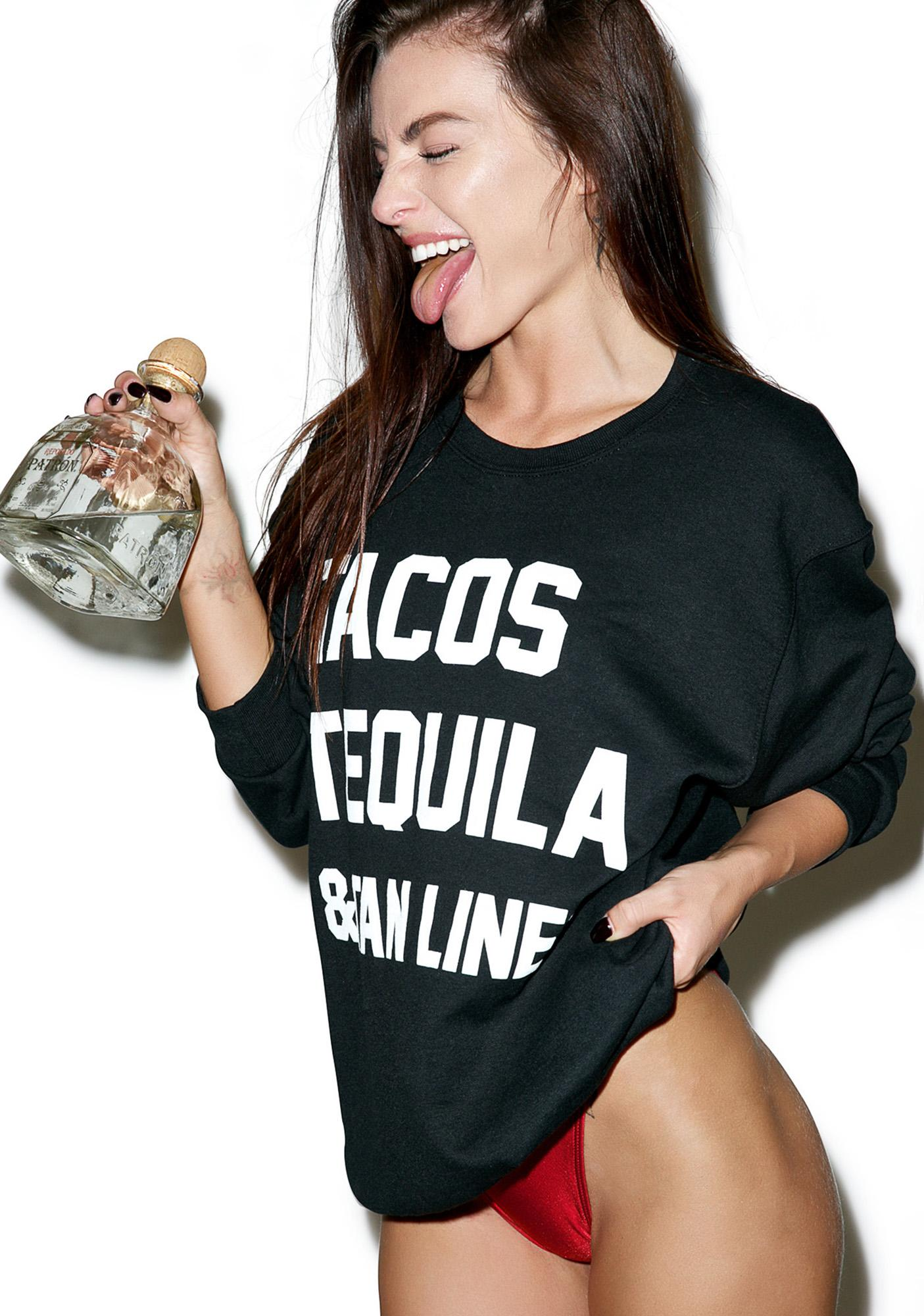 Private Party Tacos Tequila & Tan Lines Sweater