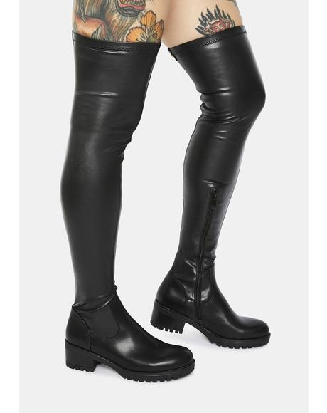 Eureva Slim Fit Over The Knee Boots