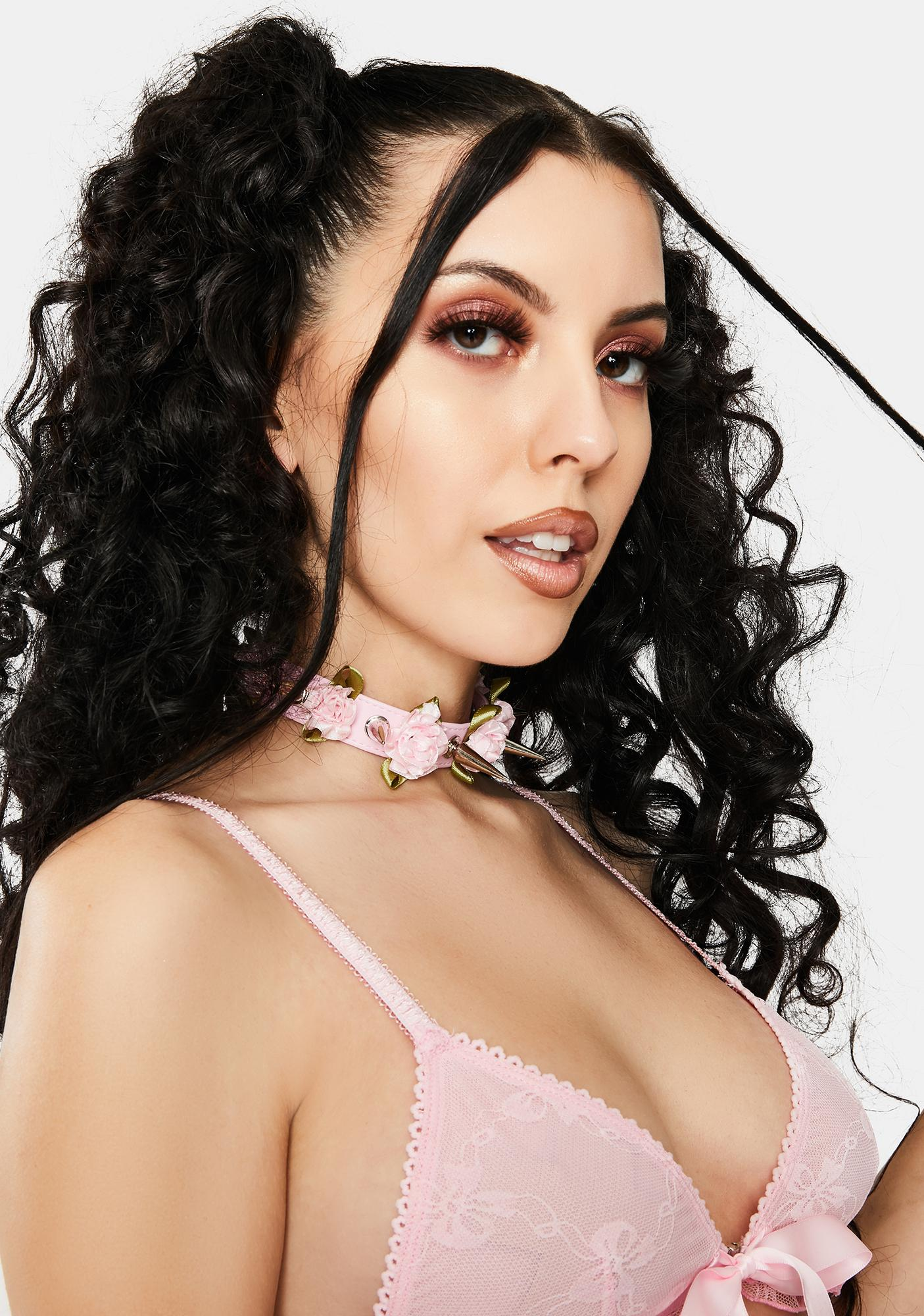 Blush Thorny Lover Spiked Tie Choker