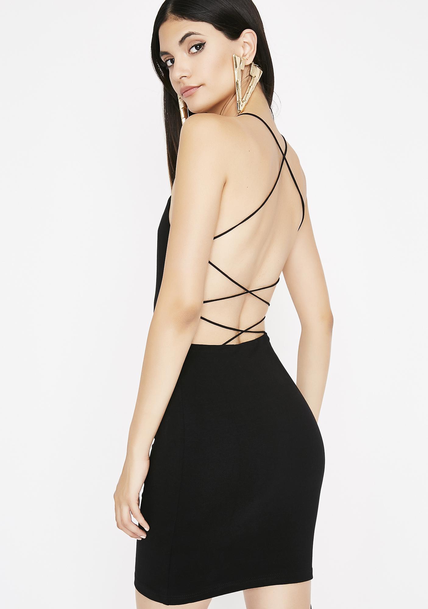Get Em' Hooked Strappy Dress