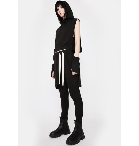 NOCTEX Black Terra Skirt Joggers