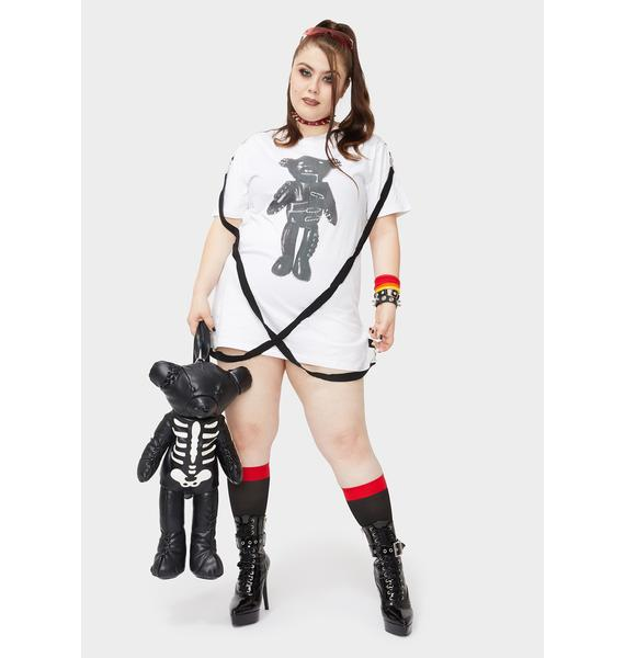 Current Mood Lil Tormented Teddy Graphic Tee