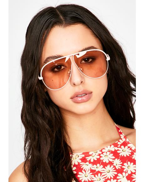 Baby Callin' The Shots Aviator Sunglasses