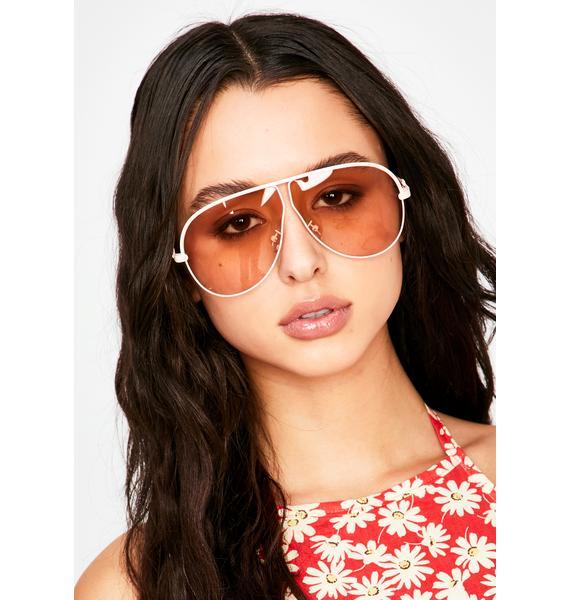 Baby Callin' The Shots Aviator Sunglasses