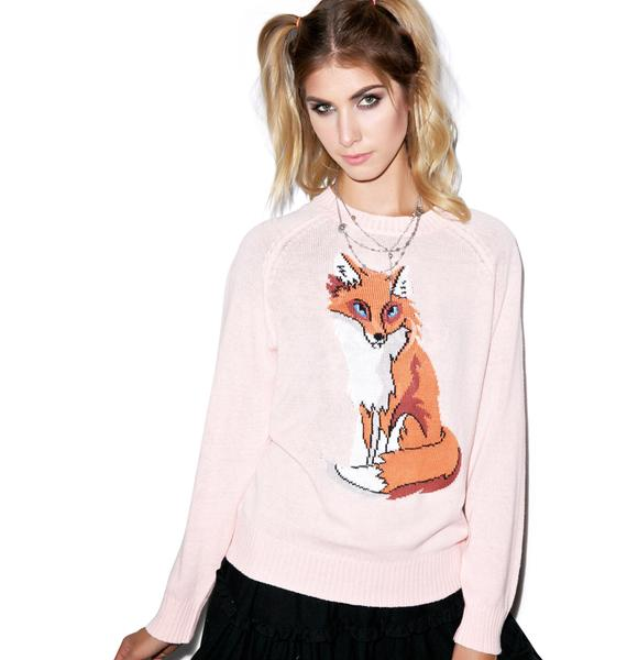 Wildfox Couture Red Fox 70s Mini Sweater