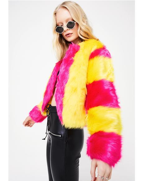 I Want Candy Fuzzy Jacket