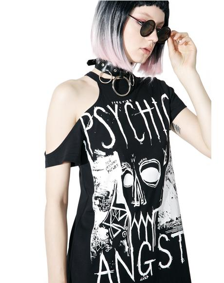 Psychic Angst Cut-Out Tee Dress