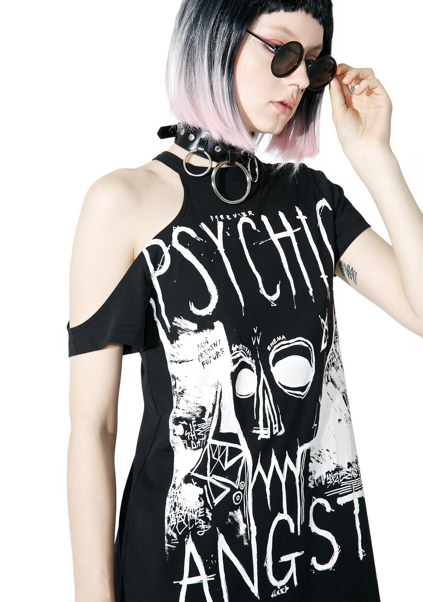 Disturbia Psychic Angst Cut-Out Tee Dress
