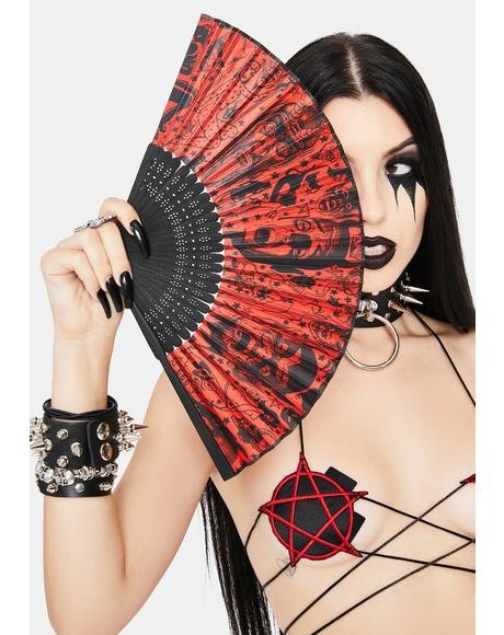 Devil Made Me Do It Hand Fan