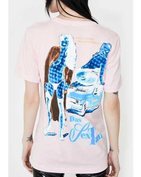 Pink Sex Taxi Graphic Tee
