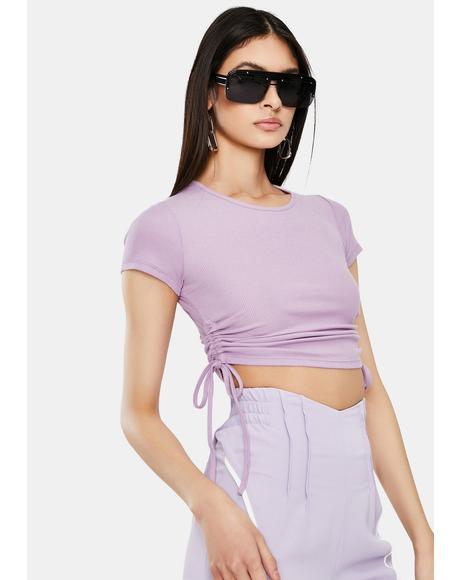 Lavender Koa Crop Top