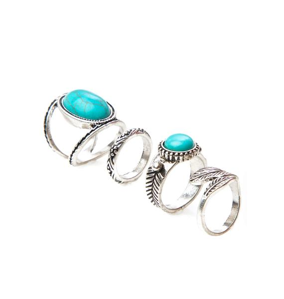 Under The Sun Turquoise Ring Set