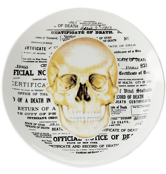 Sourpuss Clothing Skull Plate