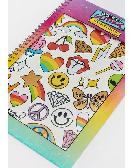 Rainbow Patches Temporary Tattoos