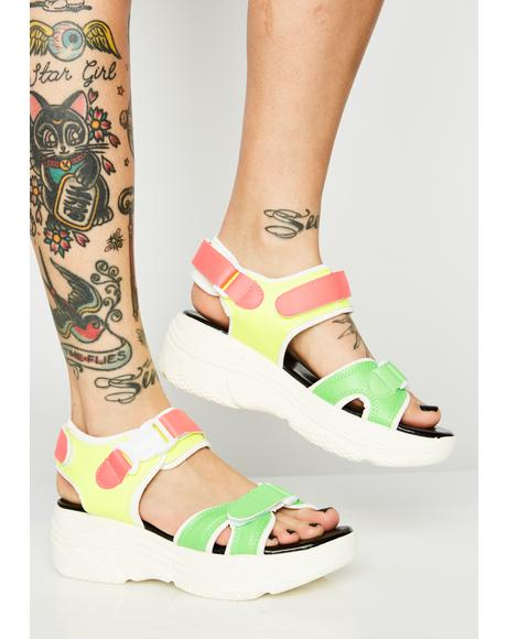 Young Sporty Platform Sandals