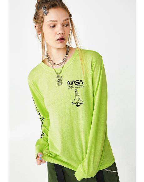 Nasa Neon Long Sleeve Tee