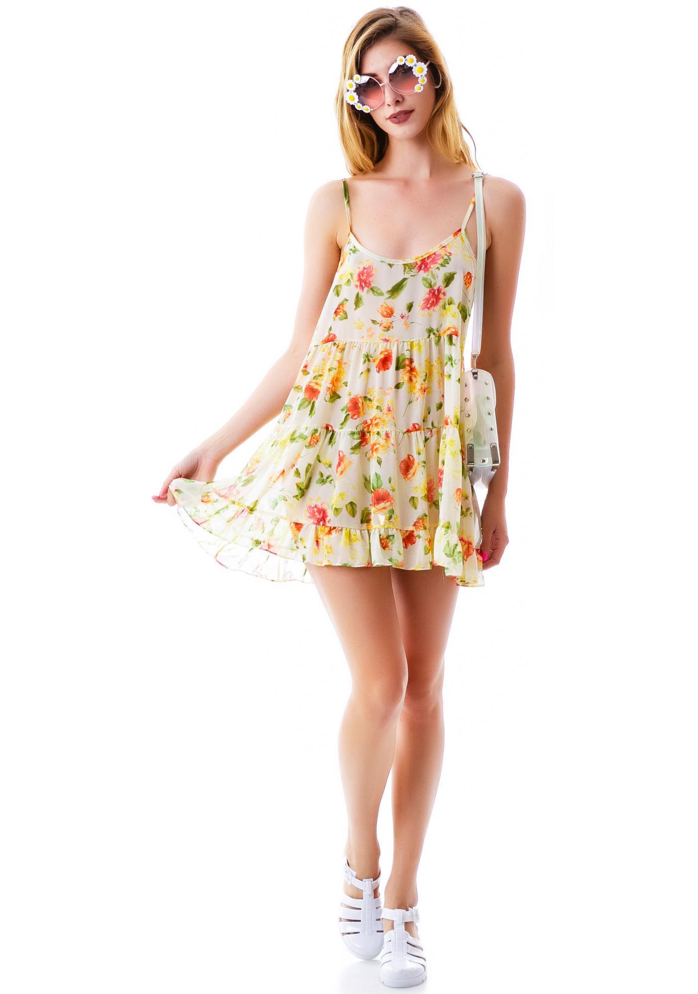 Tomorrowland Floral Ruffle Dress