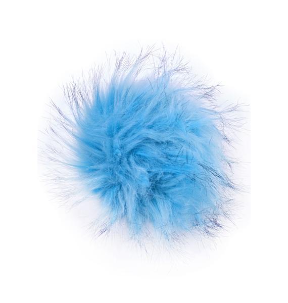 BB Gurl Blue Furry Pom Keychain