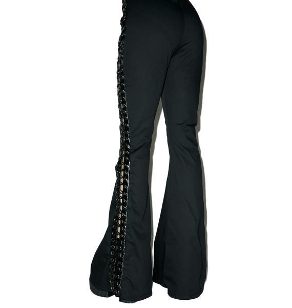 Hazmat Design Vintage Deadstock The Ties That Bind Flare Jeans