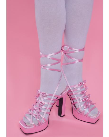 Cutest Curtsy Strappy Wrap Heels
