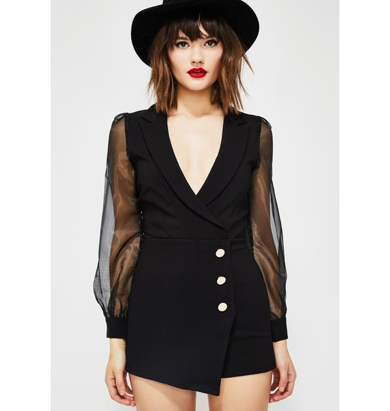 Couture Mood Blazer Romper